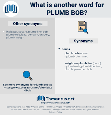 synonyms for plumb bob thesaurus net