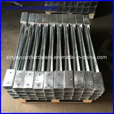 China Galvanized Metal Bracket Post Anchor For Wooden Fence Post China Pole Anchor Ground Anchor