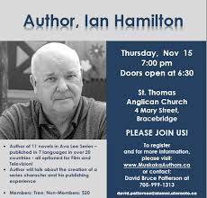 Author, Ian Hamilton of the Ava Lee Series Coming To Bracebridge |  muskoka411.com