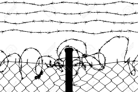 Barb Wire Fence Drawing Drawing Art Ideas