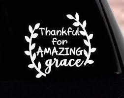 Amazing Grace Decal Etsy