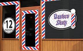 Barbershop Window Stickers Decals From Studio Signs Rapid Graphix In Costa Mesa Ca 92627