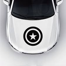 Captain America Superhero Car Hood Sticker Cool Car Decal For Car Head Door Window Decoration Ca1293 Car Stickers Aliexpress