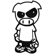 Pig Person Jdm Car Decal Sticker