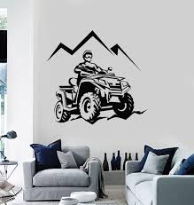 Vinyl Wall Decal Racing Rider Atv Quad Mountain Trips Extreme Sports S Wallstickers4you