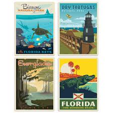 Sunshine State Florida Vinyl Sticker Set Of 4 At Retro Planet