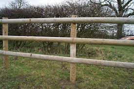 Fencing Rail 3 6m Half Round Fencing Beams Wooden Timber 100mm Dia Treated Wood 5060511991681 Ebay