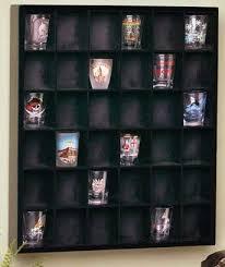 shot glass wall curio display case