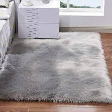 super soft faux fur sheepskin area rug