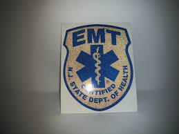 Blacked Out New Jersey Emt Patch Window Decal Police Fire Ems Viny Graphics Stickers Decals Dkedecals