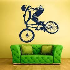 Amazon Com Stickersforlife Wall Decal Vinyl Sticker Decals Bike Cycle Bmx Bicycle Jump Z1325 Home Kitchen