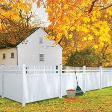 6 X8 White Vinyl Pro Privacy Picket Top Panel Kit At Menards Vinyl Fence Panels Fence Panels Vinyl Fence
