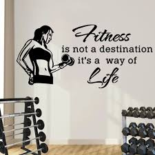 Sports Wall Decal Quotes Fitness Is Not A Destination It S A Way Of Life Vinyl Sticker Gym Fitness Health Sports Art Mural Wy 41 Wall Decals Quotes Sports Wall Decalswall Decals Aliexpress