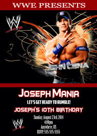 Wwe John Cena Birthday Invitations By Xochitlmontana On Etsy Https