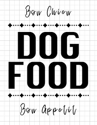Dog Food Decal Dog Food Container Pet Treat Jar Pet Etsy Dog Food Container Dog Food Recipes Dog Food Holder