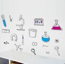 Amazon Com Bibitime Science Laboratory Wall Decals Vinyl Chemical Element Tool Stickers For School Classroom Nursery Bedroom Children Student Study Teens Kids Room Decor Diy Home Art Decorations Home Kitchen