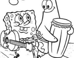 Spongebob Eet Hamburger Kleurplaat Kleurplaatje Nl