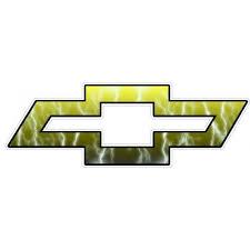 Chevy Bowtie Logo Decal Sticker Lightning Gold
