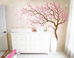 Large Tree Wall Decal With Branches Birds Wall Sticker Vinyl Decal A Walldecaldesigns