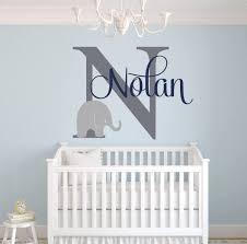Amazon Com Custom Elephant Name Wall Decal For Boys Baby Boys Room Decor Nursery Wall Decals Elephant Wall Art 30wx22h Baby