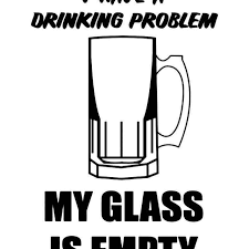 Beer Drinking Probem Vinyl Sticker