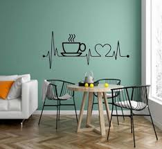 I Love Coffee Wall Decal Kitchen Dining Room Wall Decor Coffee Cup Vinyl Wall Stickers Office Home Decoration G498 Wall Stickers Aliexpress