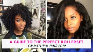 perfect rollerset on natural hair