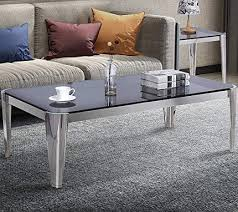 coffee table grey tempered glass