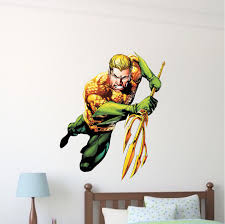 Aqua Man Superhero Wall Graphic Decal Aquaman Wall Decal Superhero Wall Design Aqua Man Bedroom Designs Superheroes Primedecals