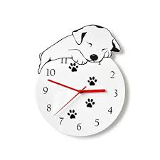 Buy Kolymax 3d Cute Wall Clock Non Ticking Silent Kids Room Decorative Clock With Unique Lovely Cartoon Shape Puppy Dog 12inch White With Ubuy Kuwait B07bbq7ccd