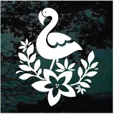 Cute Flamingo Car Decals Window Stickers Decal Junky