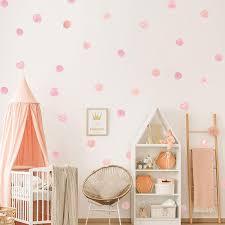 Cute Pink Dots Wall Decals For Girls Room Nursery Decor Peel Stick V Nordicwallart Com