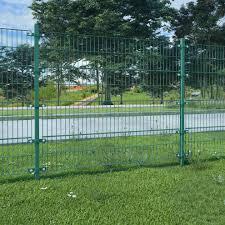 Vidaxl Garden Outdoor Fence Panel Fencing Barrier Screen With Posts Green Iron On Onbuy