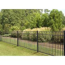 4 5 Ft H X 7 Ft W Handy Andy Metal Fence Panel In 2020 Metal Fence Panels Aluminum Fence Vinyl Fence Panels