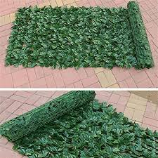 Earthily Artificial Privacy Panels Topiary Hedge Plant Artificial Hedges Faux Ivy Leaves Fence Mesh Backing Uv Protection Privacy Screen Garden Fence For Indoor Outdoor Backyard Home Decor Amazon Co Uk Kitchen Home