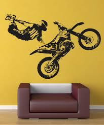 Vinyl Wall Decal Sticker Motocross Jump Trick X Games Os Aa195 Stickerbrand