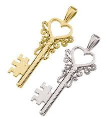 heart key pendant in 14k gold 5333