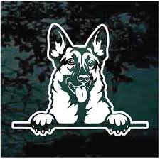 Happy German Shepherd Peeking Car Window Decals Decal Junky
