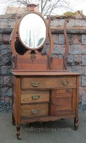 vintage antique victorian oak washstand