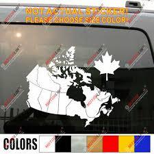 Canadian Map Canada Maple Leaf Car Decal Sticker Ebay