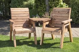 wooden garden love seat bench