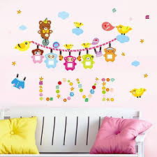 Ufengke Pokemon Pikachu Wall Stickers For Kids Removable Peel And Stick Wall Decals For Bedroom Nursery Living Room