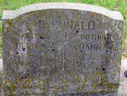 "Louanna Elisabeth ""Luana"" Lacey McDonald (1850-1934) - Find A Grave Memorial"