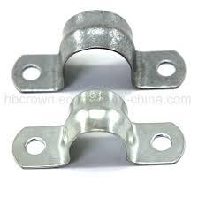 China Pipe Fittings Metal Conduit Saddle Galvanised Clip China High Quality Galvanised Clip Galv Small Conduit Pipe Saddle Clamp