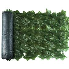 Artificial Privacy Screening Roll Garden Artificial Ivy Leaf Hedge Fence Wall Balcony Privacy Screening Roll Walmart Com Walmart Com