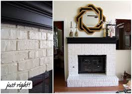 painting the brick fireplace