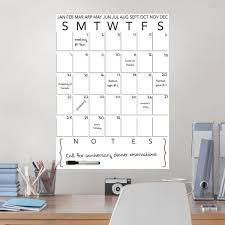 Wallpops White Calendar And Notes Wall Decal Wpe3236 The Home Depot