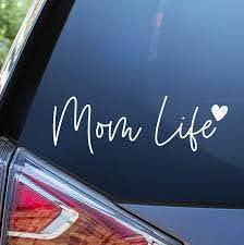 Amazon Com Blue Giraffe Mom Life Car Decal 7 Cute Bumper Sticker For Your Car Automotive