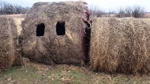 home made hay bale blind you