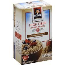 high fiber instant oatmeal maple